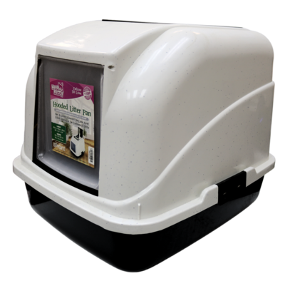 HERE KITTY DELUXE  HOODED LITTER PAN