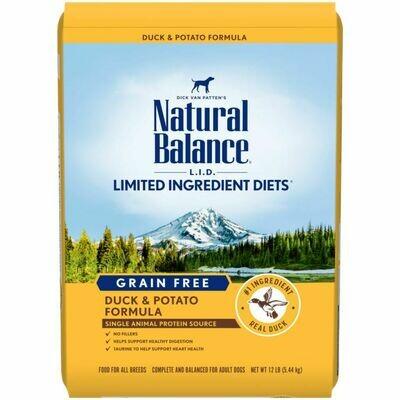 NATURAL BALANCE DOG LID GF DUCK & POTATO 5.44KG