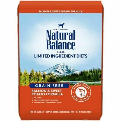 NATURAL BALANCE DOG SALMON & SWEET POTATO 10.8KG.