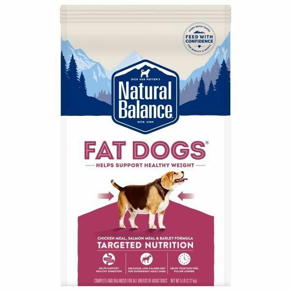 NATURAL BALANCE FAT DOG LOW CAL CKN & SALMON 2.27KG