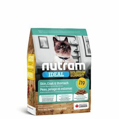 NUTRAM CAT I19 SKIN/COAT/STOMACH 1.13KG.