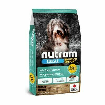 NUTRAM DOG I20 SKIN COAT & STOMACH  11.4KG