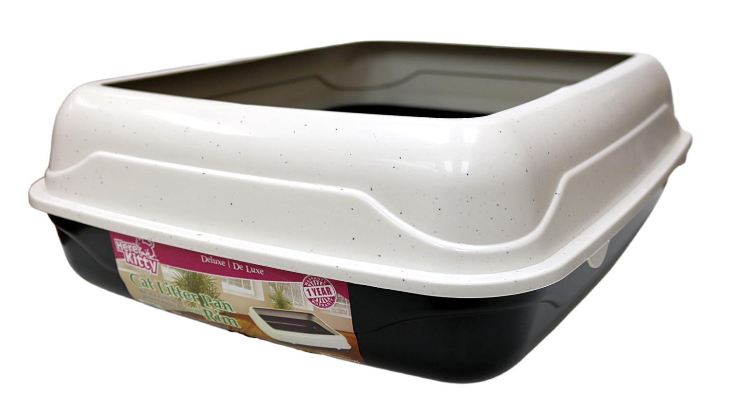 HERE KITTY DELUXE LITTER PAN W/RIM LARGE