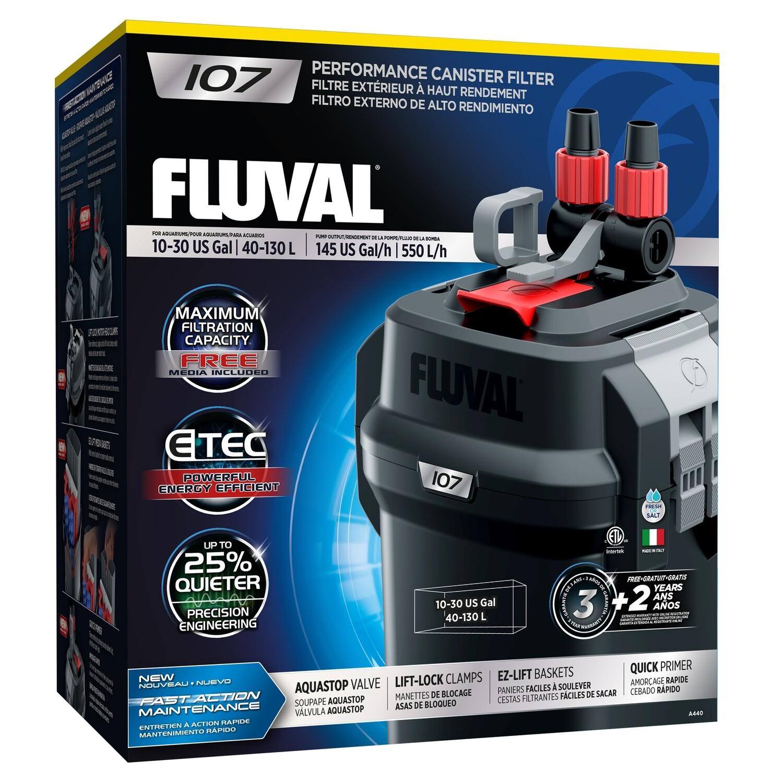 FLUVAL 107 EXTERNAL CANISTER FILTER.
