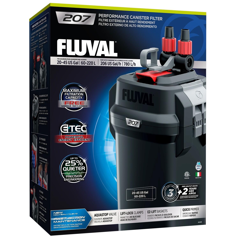 FLUVAL 207 EXTERNAL CANISTER FILTER.