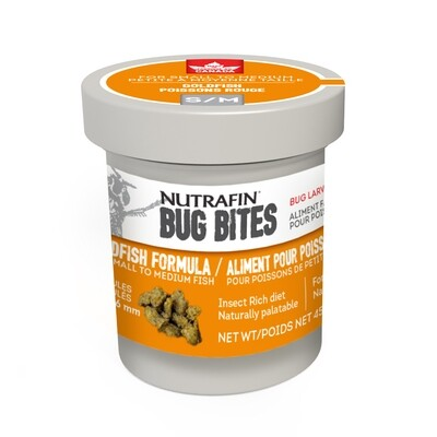 NUTRAFIN BUG BITES GOLDFISH FORMULA SM 45G.