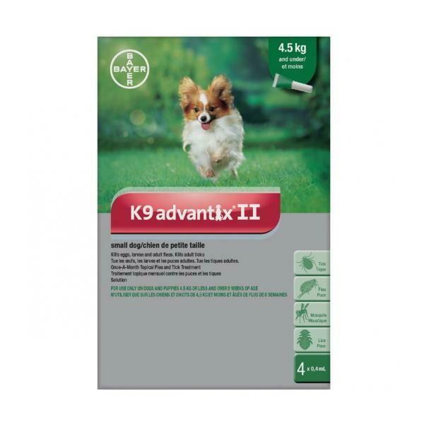 K9 ADVANTIX F/SM DOG <4.5KG .4ML