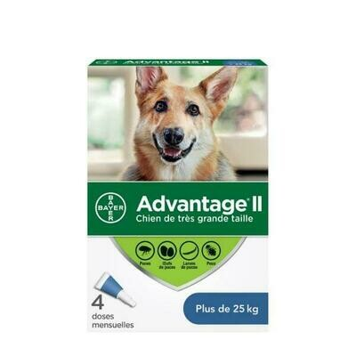 ADVANTAGE 2 F/XL DOG  >25KG