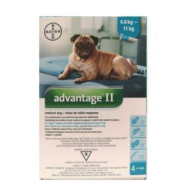 ADVANTAGE 2 F/MED DOG  4.6-11KG