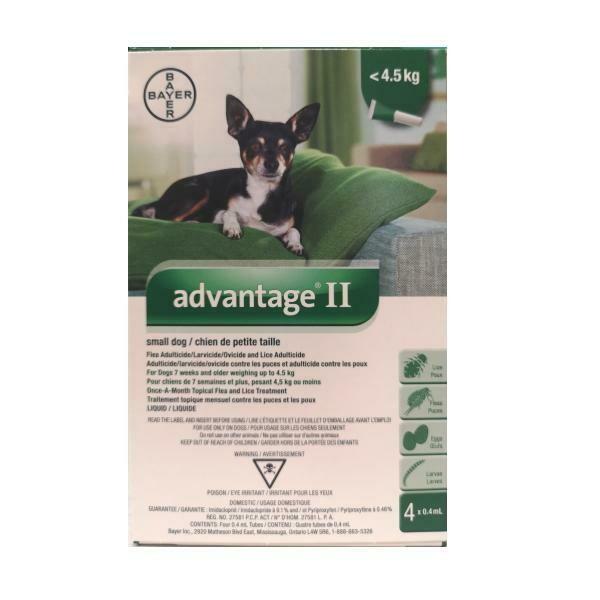 ADVANTAGE 2 F/SM DOG <4KG