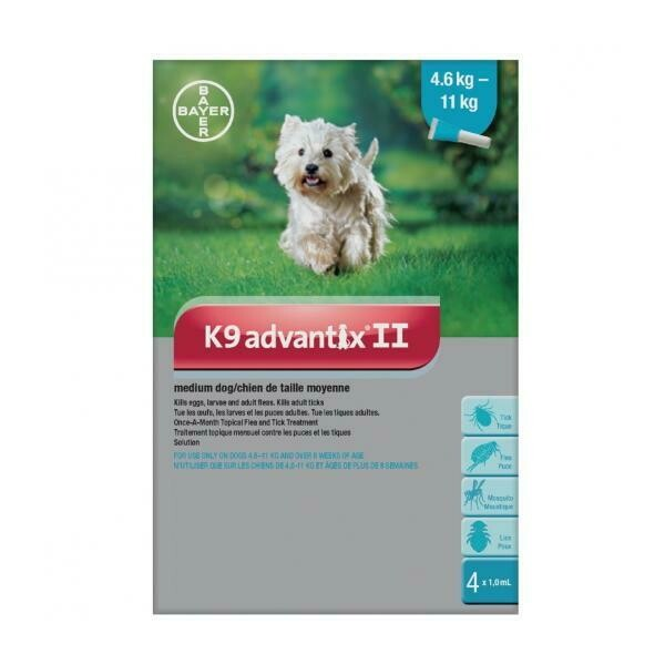 K9 ADVANTIX F/MED DOG  4.6-11KG 1.0ML