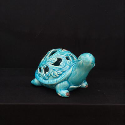 Ceramic Turtle Tea Light Candle Holders - Blue