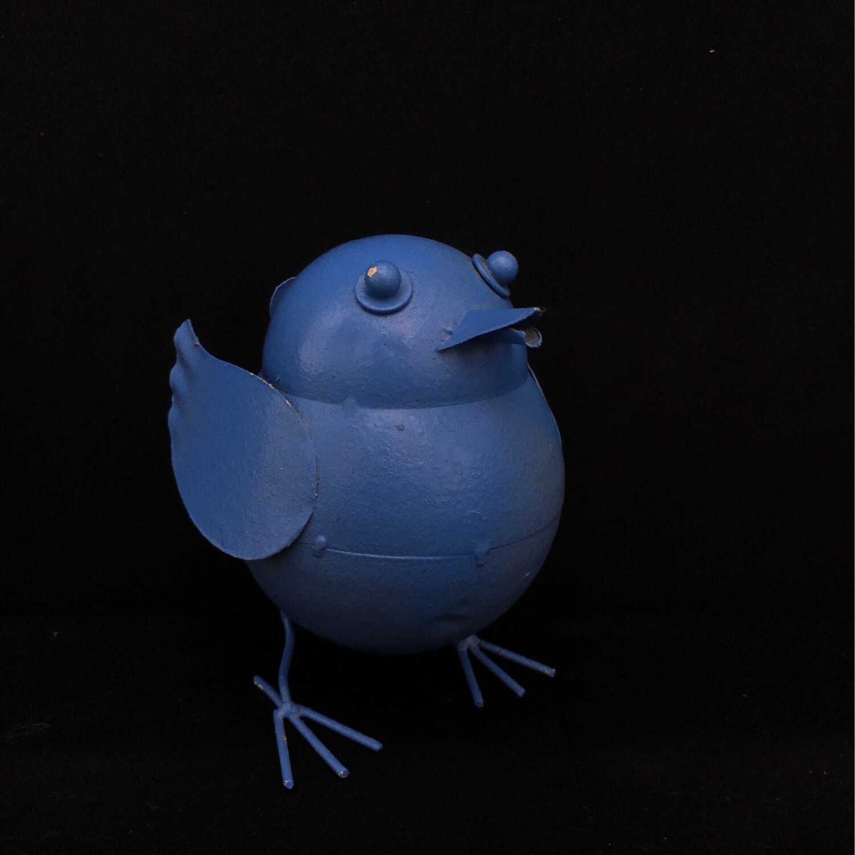 Blue Metal Birdie