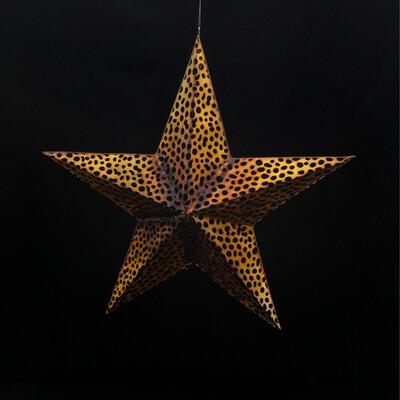Large Golden Metal Star