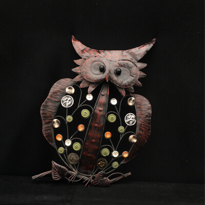 Owl Ornament With Buttons