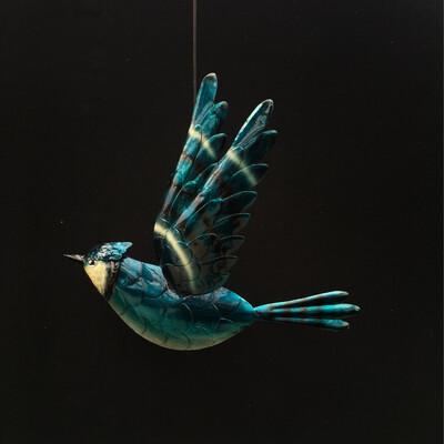 Blue Jay Wall Ornament