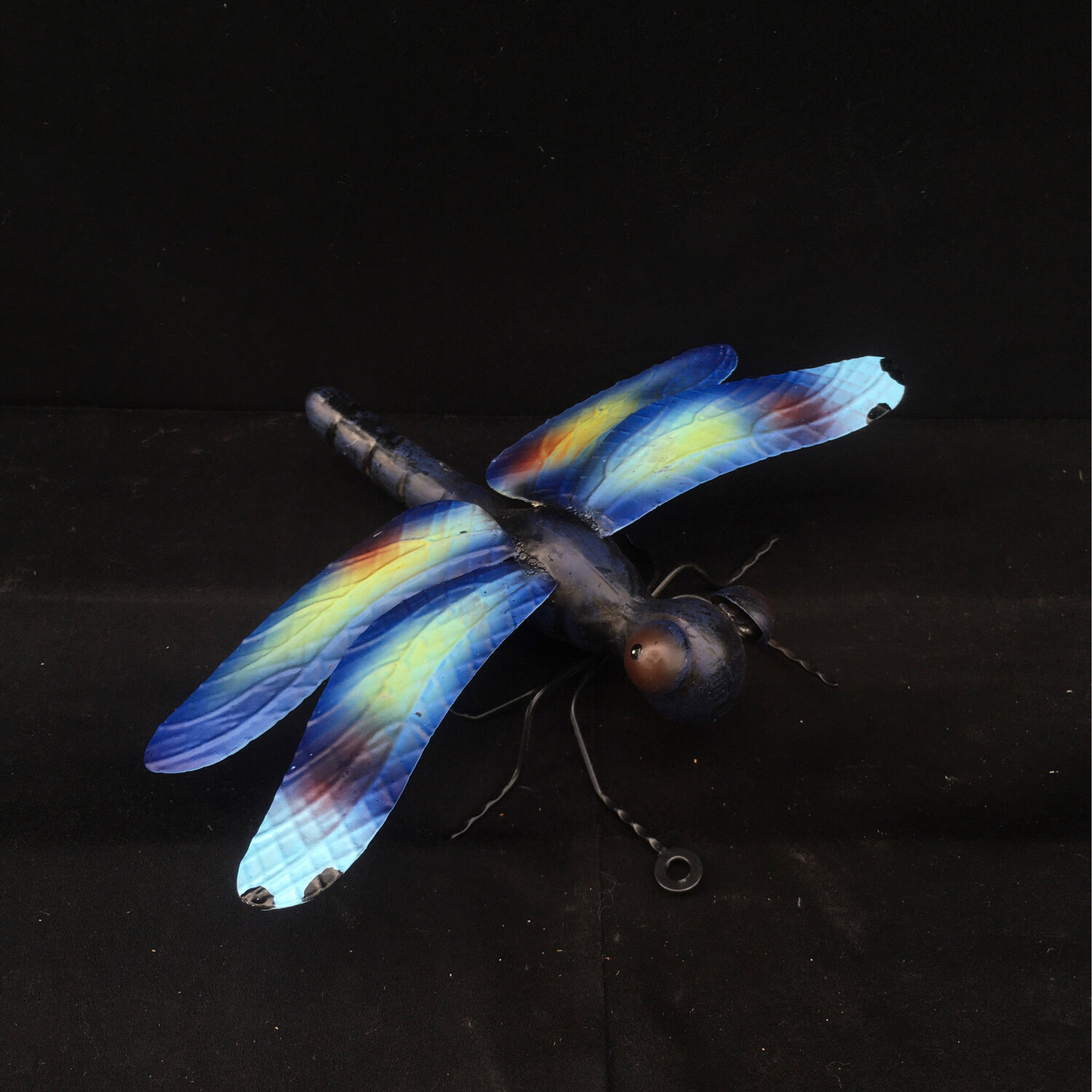 Purple-Blue Small Metal Dragonfly