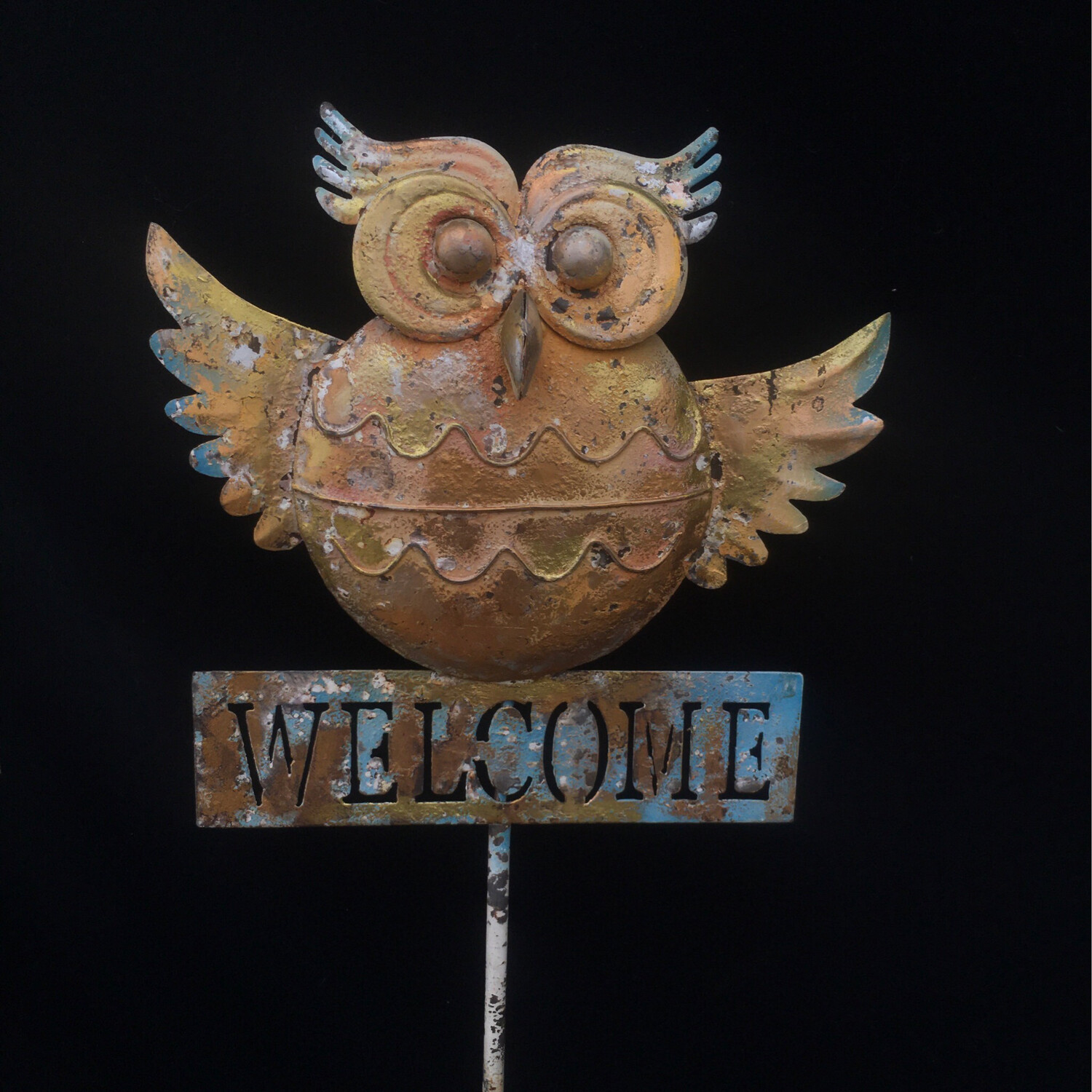 Welcome Owl Garden Stake