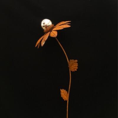 Bronze Sunflower Garden Stake