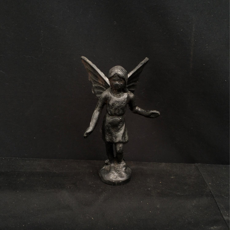 Small Cast Iron Angel Statue