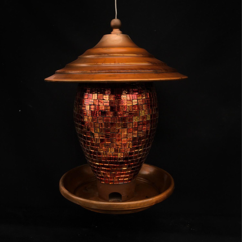 Mosaic Brass Bird Feeder