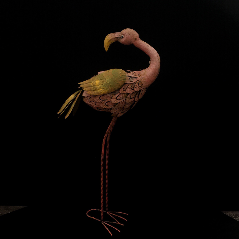 "Pink Metal Flamingo ""Lookin' Back"""