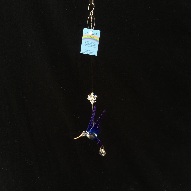 Crystal Art Hummingbird - Blue