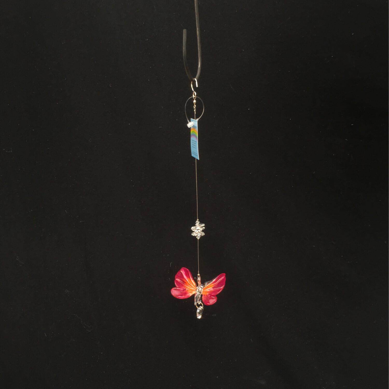 Crystal Art Butterfly - Orange/Pink
