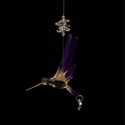 Crystal Art Hummingbird - Purple