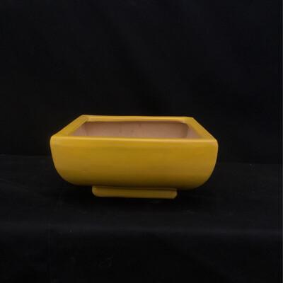 Small Yellow Square Pot Planter