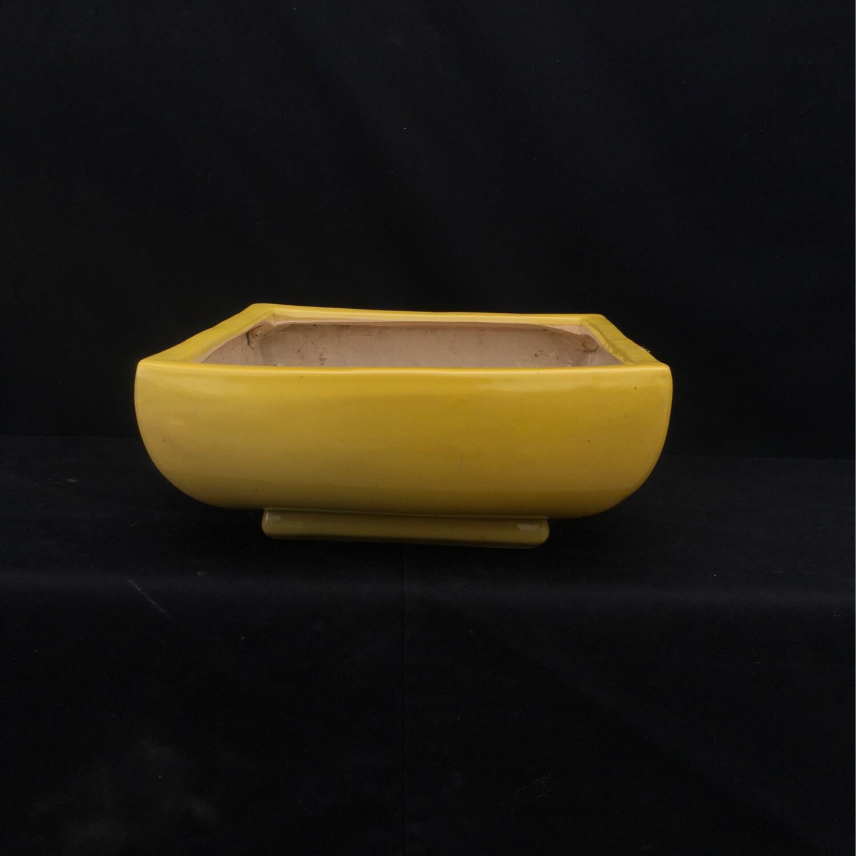 Large Yellow Square Pot Planter