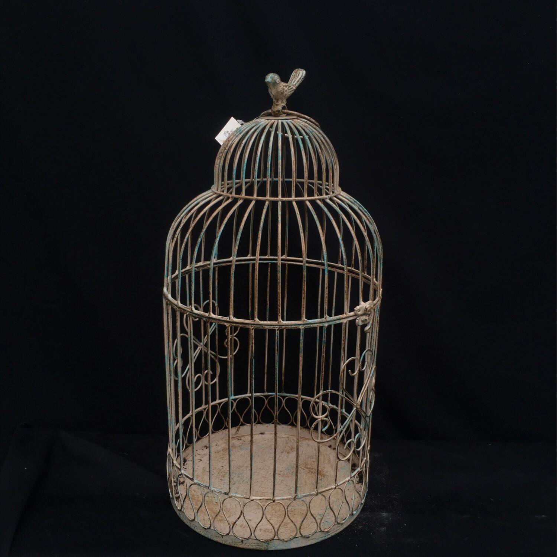 Large Ornate Metal Bird Cage
