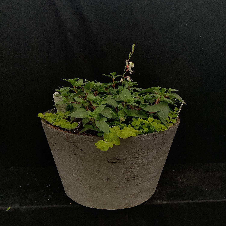 Round Grey Planter - Shade