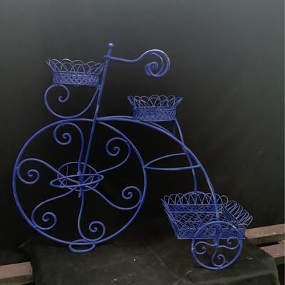 Vintage Dark Blue Metal Bike