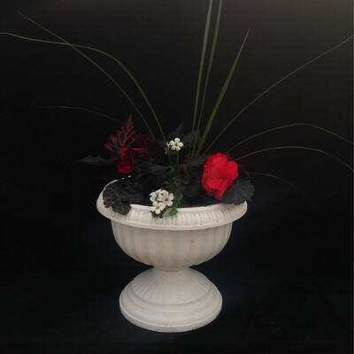 Small White Plastic Urn - Shade