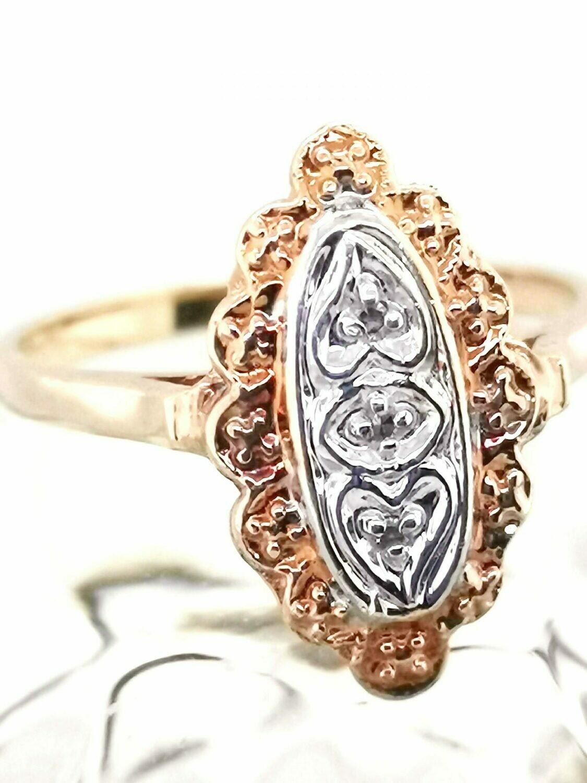 Vintage TriColour Gold Ring