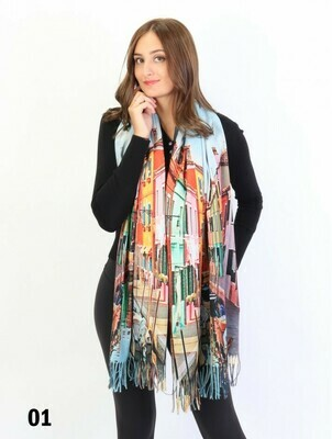 Painting Printed Art Scarf Shawl