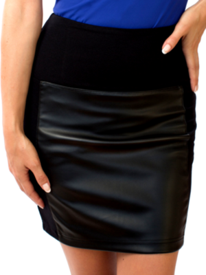 Svelte Panel Skirt Black