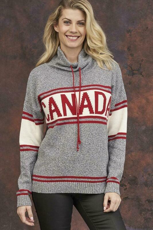 Grey Tweed Canadian Sweater