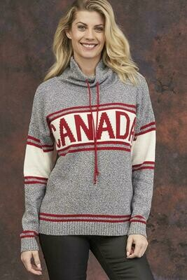 Grey Tweed Canadian Sweater