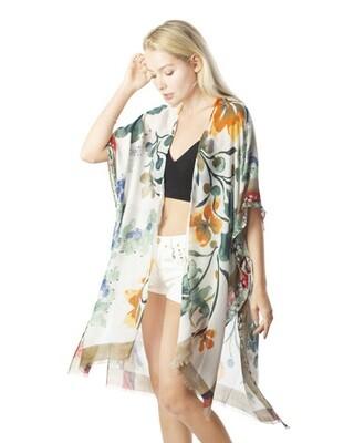 Floral Print Kimono 390-114-9580824