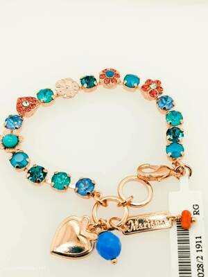 Mariana Spring Flower Blue Teal Multi Bracelet