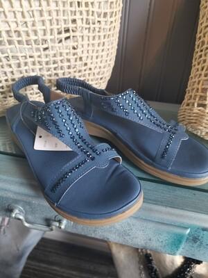 JJ Sandals 520-118-S1045 V Strap with Bling R53