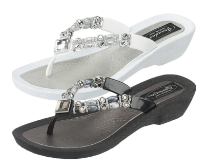 Bling Sandals in Black or White