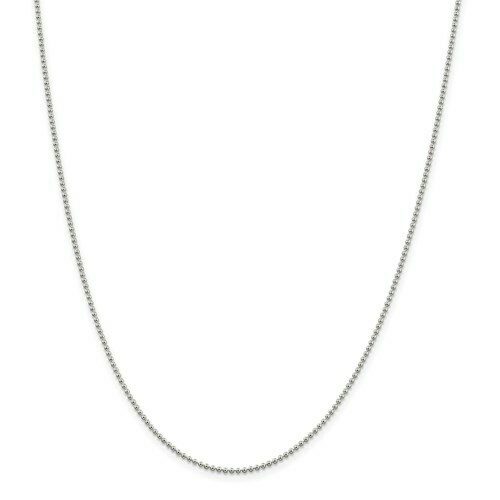 Sterling Silver 1.5mm Beaded Chain 860-32-QK81-24