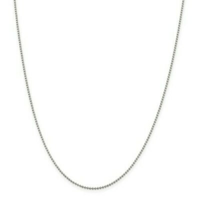Sterling Silver 1.5mm Beaded Chain