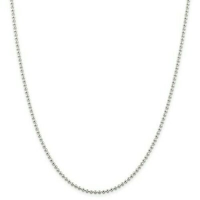 Stainless Steel 2.35mm Breaded Chain
