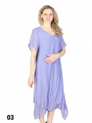 220-20-CL1322 Short Sleeve Shift Dress