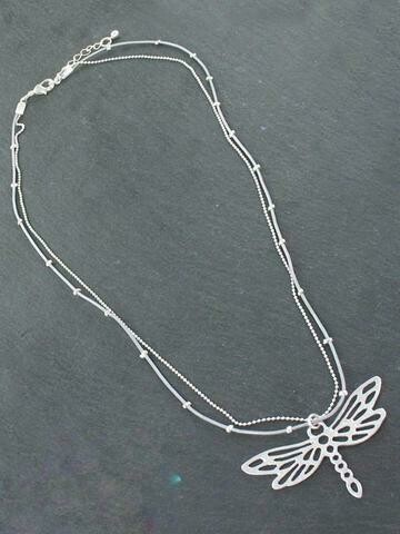 Double strand Necklace with Pendant