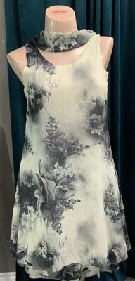 Flowered  overlay Dress